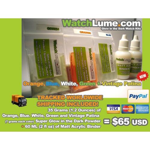 WatchLume.com -   Glow in the dark powder and binder